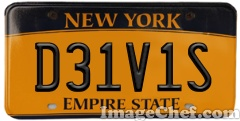 New York License Plate New