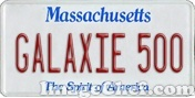 Massachusetts License Plate