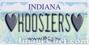 Indiana License Plate